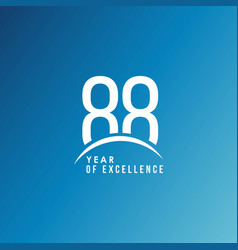 88 year excellence template design vector