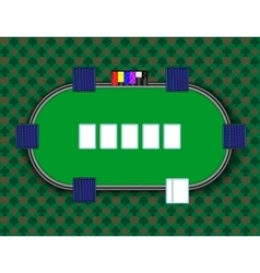 a poker table vector image