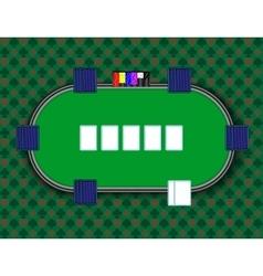 A poker table vector