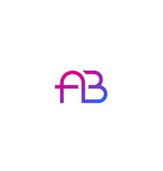 Ab monogram minimal logo vector