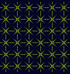 Abstract seamless pattern with neon colors dots vector