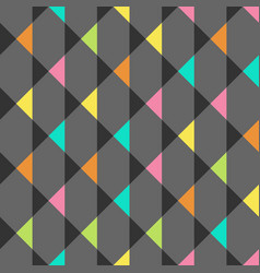 Abstract seamless pattern with triangles vector