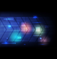 Abstract technology blue background hi-tech arrow vector