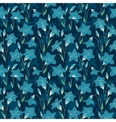 Beautiful wild bluebell flowers seamless pattern 5 vector image