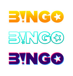 bingo typography lottery retro glowing lettering vector image