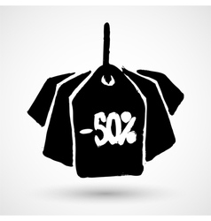 Black Friday sales grunge tag vector image