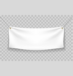 Blank fabric banner vector