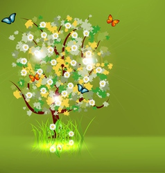 Blossoming Spring - Summer Tree vector image