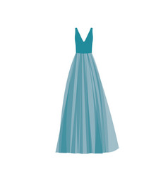 Blue prom dress vector