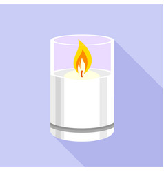 Candle glass icon flat style vector
