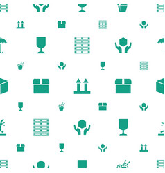 cardboard icons pattern seamless white background vector image