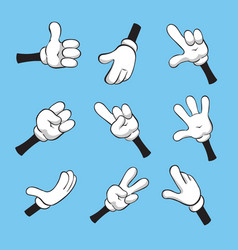 Cartoon various hands vector