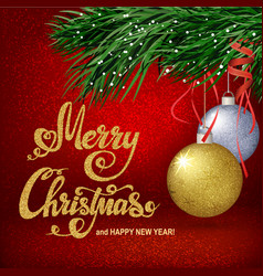 christmas red background vector image