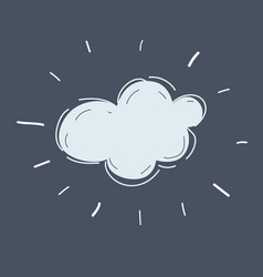 cloud on dark background vector image