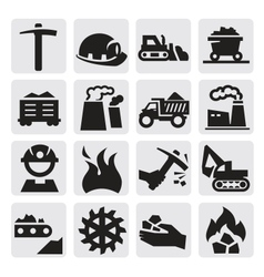 coal icon vector image vector image