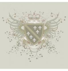 coat of arms with Fleur-de-lis vector image