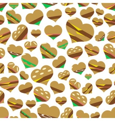 colorful hearts hamburgers styles simple icons vector image vector image
