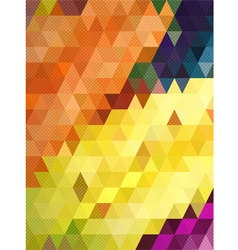 Colorful triangle with dot texture background vector