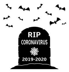 Coronavirus gravestone concept vector