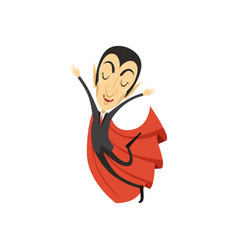 Count dracula vampire walking on air vector