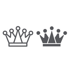 crown line and glyph icon royalty and leader vector image