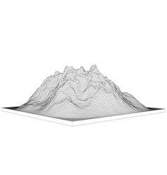 Curve lines in shape part mountain range vector