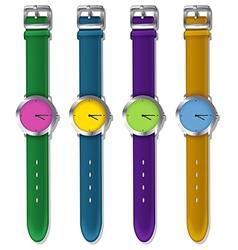 Designer watches vector image