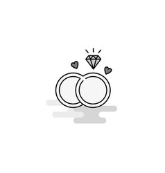 diamond ring web icon flat line filled gray icon vector image