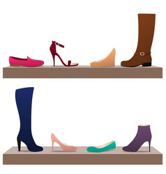 Different woman shoes vector