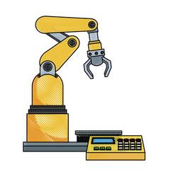 Digital controller for robot in factory smart vector