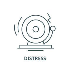 distress line icon linear concept outline vector image