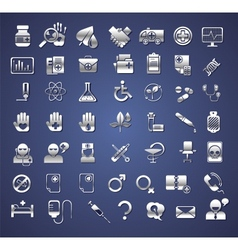 Edicine and healthcare icons vector