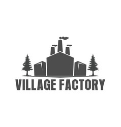 Factory building logo - logo with chimney vector