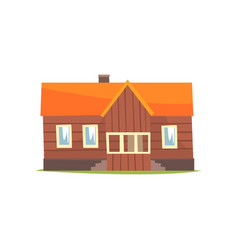 Farm house rural cottage cartoon vector