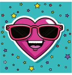 fashion love badges vector image