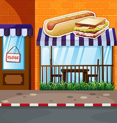 Fastfood shop by the street vector