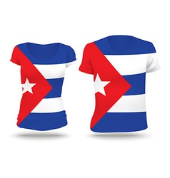 Flag shirt design of Cuba vector image