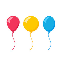 Flat balloon birthday icon vector