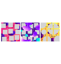 fluid shapes post template colorful abstract vector image