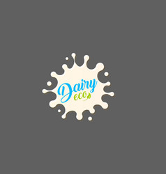 fresh milk splash icon white blot drop vector image