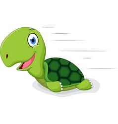 fun turtle cartoon vector image