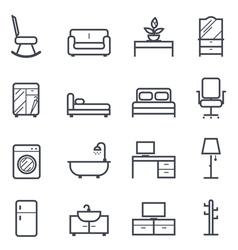 Furniture Icon Bold Stroke vector image
