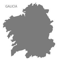galicia spain map grey vector image