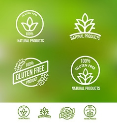Gluten free logo badges and emblems vector