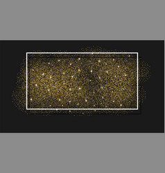 gold glitter background abstract sparkle sequin vector image