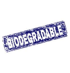Grunge biodegradable framed rounded rectangle vector