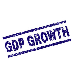 Grunge textured gdp growth stamp seal vector