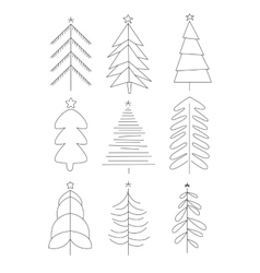 Handdrawn Christmas Trees vector