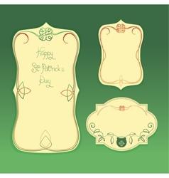 Happy Saint Patrick Day gratters Leprechaun vector image