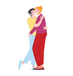 homosex male couple vector image